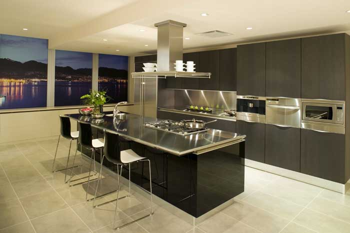 modern kitchen condo apartment